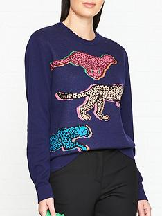 ps-paul-smith-cheetah-live-faster-knitted-jumper-navy