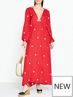 sundress-chicago-embroidered-daisies-maxi-dress-red
