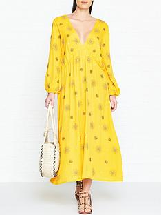 sundress-chicago-sun-embellished-maxi-dress-yellow