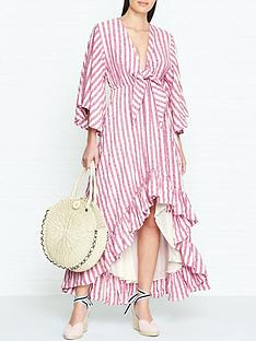 sundress-julianna-stripe-dip-hem-dress-pink