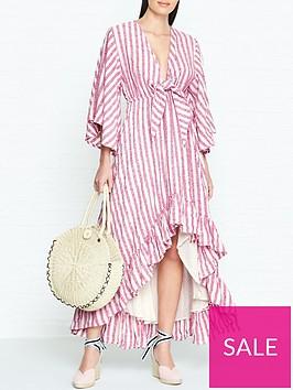 sundress-julianna-stripe-dip-hem-dress-pink