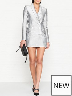 bec-bridge-lady-sparkle-blazer-dress-silver