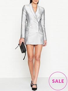 bec-bridge-lady-sparkle-blazer-dress-silver
