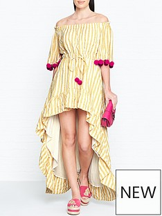 sundress-alena-stripe-dip-hem-pom-pom-dress-yellow