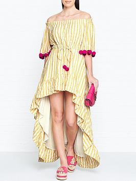 sundress-alena-stripe-dip-hem-pom-pom-dress-yellow