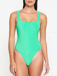 bec-bridge-velvet-teddy-swimsuit-green