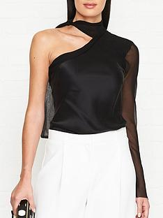 bec-bridge-romantique-one-shoulder-top-black