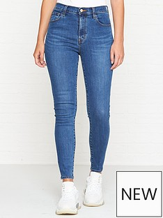 491c8012a86e8 J BRAND Leenah Super High Rise Crop Skinny Jeans - Cyber