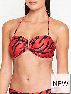 gestuz-leopard-u-ring-bandeaunbspbikini-top-red