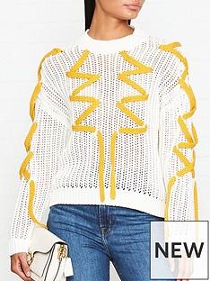 gestuz-knitted-lace-jumper-cream