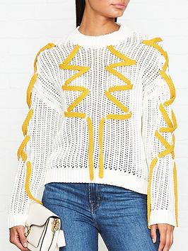 gestuz-knitted-lace-jumper-cream