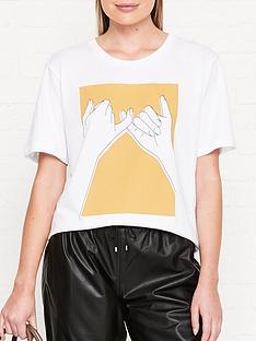 gestuz-pinky-print-t-shirt-white
