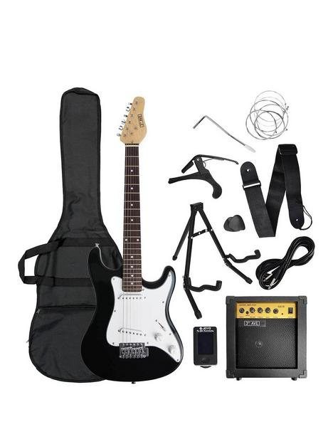 rocket-rocket-34-size-electric-guitar-in-black-with-free-online-music-lessons