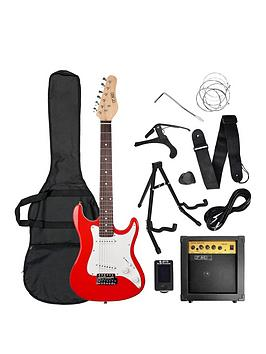 rocket-rocket-34-size-electric-guitar-in-red-with-free-online-music-lessons