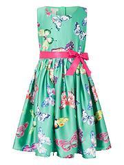 4d1628b25 Monsoon Girls Kew Butterfly Green Dress - Green