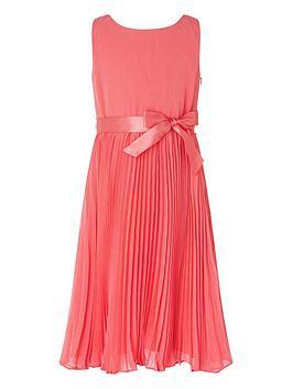monsoon-girls-keita-pleat-dress-coral