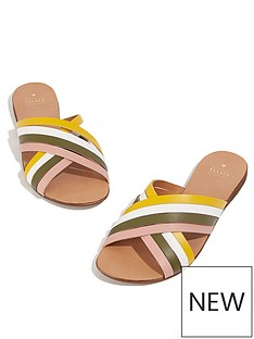 oasis-mellow-meadow-leather-sliders-multi