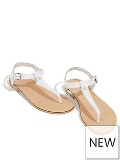 4e2e7f4e6cc9 Oasis Leather Toe Post Sandals - White