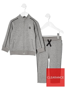 river-island-mini-mini-boys-check-jogger-outfit-grey