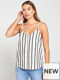 80ce99490 Warehouse Stripe Button Front Cami - Neutral