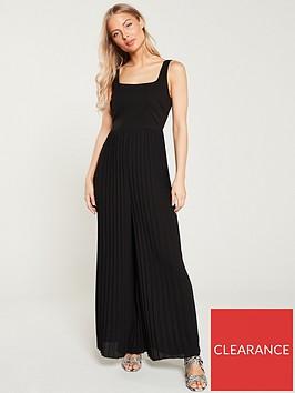 warehouse-pleatednbsppalazzonbspoccasion-jumpsuit-black