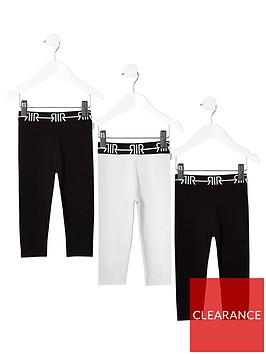 river-island-mini-mini-girls-ri-waistband-legging-multipack-blackwhite