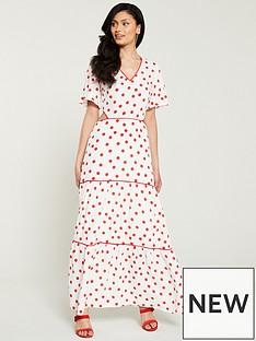 c01e2c8d6a4 Warehouse Spot Tiered Maxi Dress - Multi