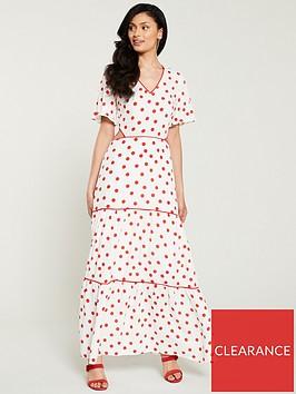 warehouse-spot-tiered-maxi-dress-multi