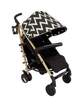 my-babiie-mb51-gold-edition-chevron-stroller