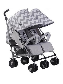 my-babiie-billie-faiers-mb22-grey-chevron-twin-strolle