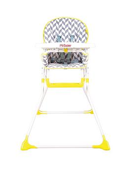 My Babiie Mbhc1Hb Herringbone Compact Highchair