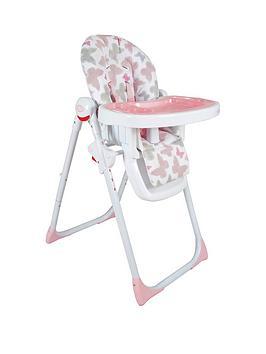 My Babiie Katie Piper Mbhc8Bu Pink Butterflies Premium Highchair