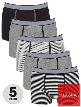 v-by-very-five-pack-geometricstriped-trunks-grey