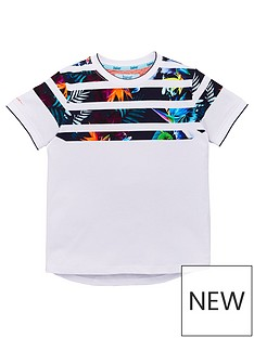 86d56fd6343c Baker by Ted Baker Boys Splice Short Sleeve T-Shirt - White