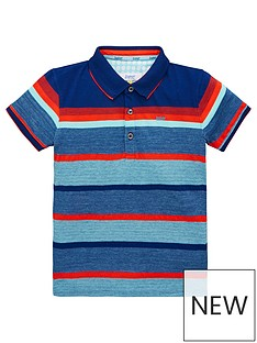 6a7a31c67d61 Baker by Ted Baker Toddler Boys Mango Stripe Polo Shirt - Multi