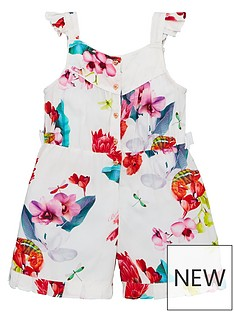 01fde960c47 Baker by Ted Baker Toddler Girls Viscose Floral Playsuit - Off White