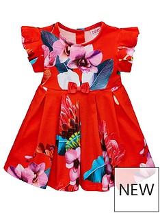 8ab77569c61d Baker by Ted Baker Baby Girls Floral Jersey Dress - Red