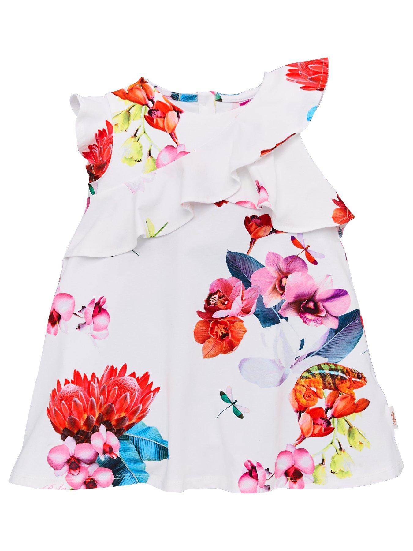 Size Age 12 Ted Baker Girls Denim Belted Dress