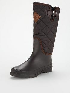 regatta-lady-fleetwood-faux-fur-lined-wellington-boots-brown
