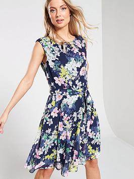 wallis-wallis-pretty-magnolia-fit-flare-dress