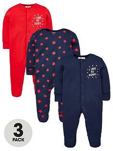v-by-very-baby-boys-i-love-my-mummy-amp-daddy-3-pack-sleepsuits-multi
