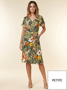 4c2a40cd6849d Wallis Wallis Petite Tropical Jungle Shirt Dress