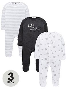 v-by-very-baby-unisex-hello-world-3-pack-sleepsuits-multi