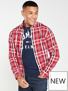 tommy-hilfiger-midscale-checked-shirt-red