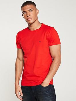 tommy-hilfiger-slim-fit-logo-t-shirt-red