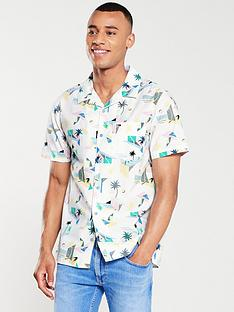 52b23b40a Tommy Jeans Surf Printed Shirt - White/Multi-Coloured