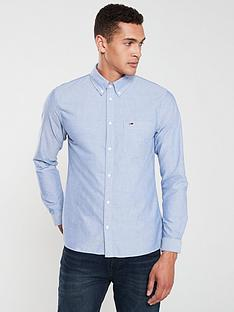 tommy-jeans-logo-oxford-shirt-blue