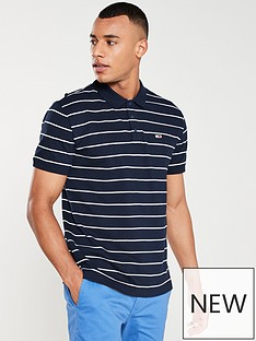 f62c51c4 Tommy Jeans Essential Fine Stripe Polo Shirt - Black Iris