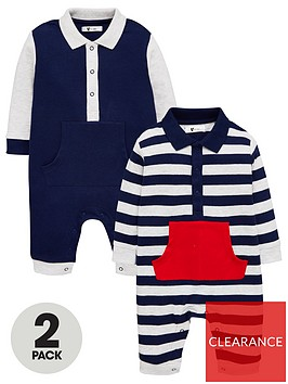 v-by-very-baby-boys-2-pack-polo-rompers-multi