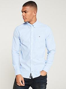 tommy-hilfiger-slim-oxford-shirt-blue